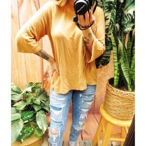 Urban outfitters soft pale yellow summery sweater